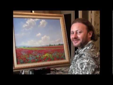 Russian Bob Ross. the most famous Russian artist Igor sugars.