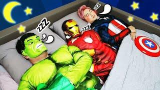 슈퍼히어로 친구들과 영어 노래 배우기 Ten in the Bed SuperHero Song