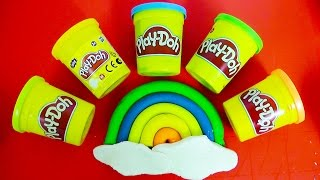 Play Doh rainbow How to do it easy play dough Learn