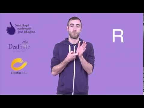 British Sign Language (BSL) Fingerspelling Alphabet