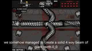 Binding of Isaac Community remix Mod: A quadruple beam of teeth