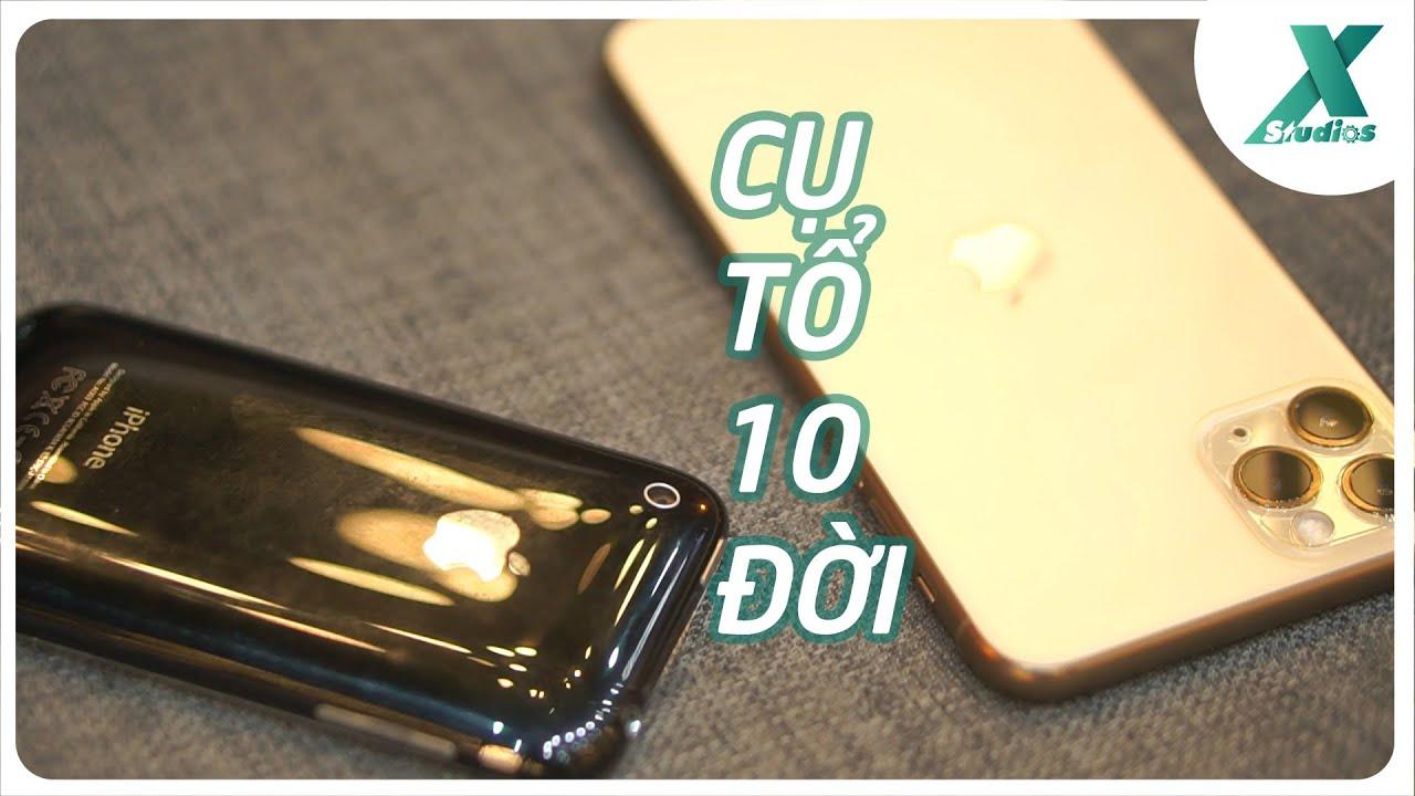 "iPhone 11 Pro Max đọ sức ""cụ tổ"" iPhone 3GS"