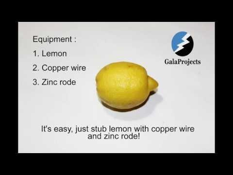 Lemon battery - How to make home tutorial
