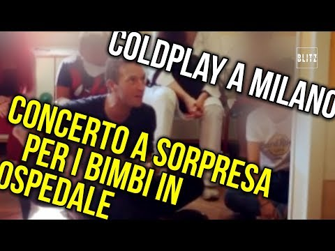 Coldplay, Chris Martin visits a children's hospital in Milan