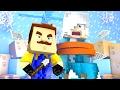 Minecraft Baby Hello Neighbour - FROZEN ELSA GETS KIDNAPPED!?
