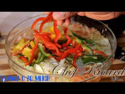 healthy salad ...fat burning food at home Chef Ricardo Juice Bar