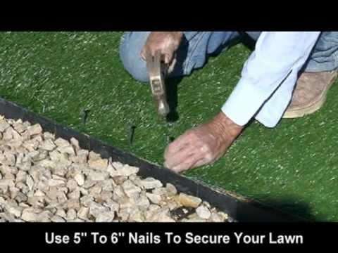 Realgr At Home Depot Synthetic Artificial Turf Installation