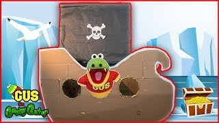 Giant Pirate Ship! BOX FORT CHALLENGE!