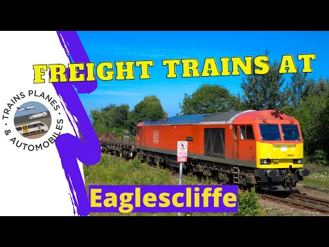 Freight Trains At  Eaglescliffe Including Class 60 U0026 66  23 7 21
