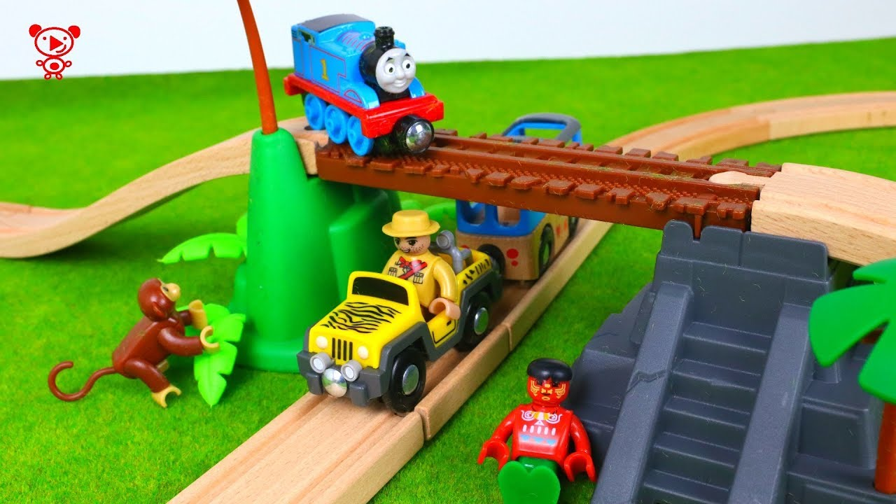 Wooden Trains Like Brio Trains With Thomas Toy Trains Video For Kids Train Set Review