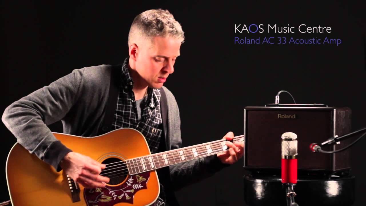 kaos gear demo roland ac 33 acoustic amplifier youtube. Black Bedroom Furniture Sets. Home Design Ideas