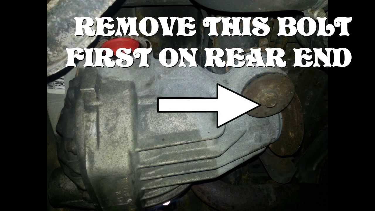 hight resolution of 2005 ford explorer rear differential rear end removal