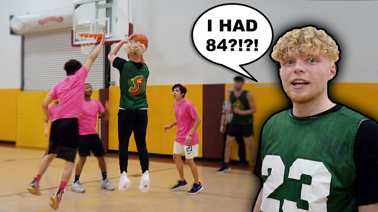 I Dropped 84 Points & We Won By 100! 5v5 Mens League Basketball!