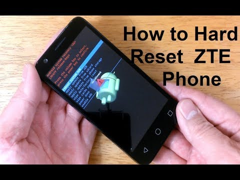 How To Reset ZTE Phone To Factory Settings - How To Open LOCKED Android Phone ZTE Reset - EASY!