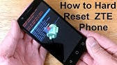 How To Hard Reset ZTE Blade Zmax - YouTube