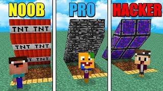 GEHEIME HACKER BASE VS. GEHEIME NOOB BASE IN MINECRAFT! (Noob vs. Pro vs. Hacker)