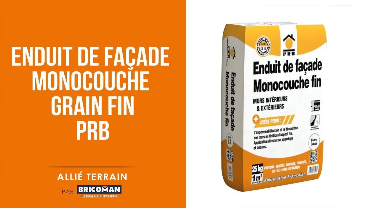 Epaisseur Enduit Sur Parpaing allié terrain : enduit de facade monocouche grain fin de prb