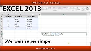 SVerweis super simpel (Excel)