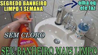 Veja o Segredo do Banheiro Limpo