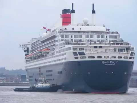Queen Mary 2 on the Mersey.
