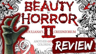 The Beauty of Horror II (2) Colouring Book Review