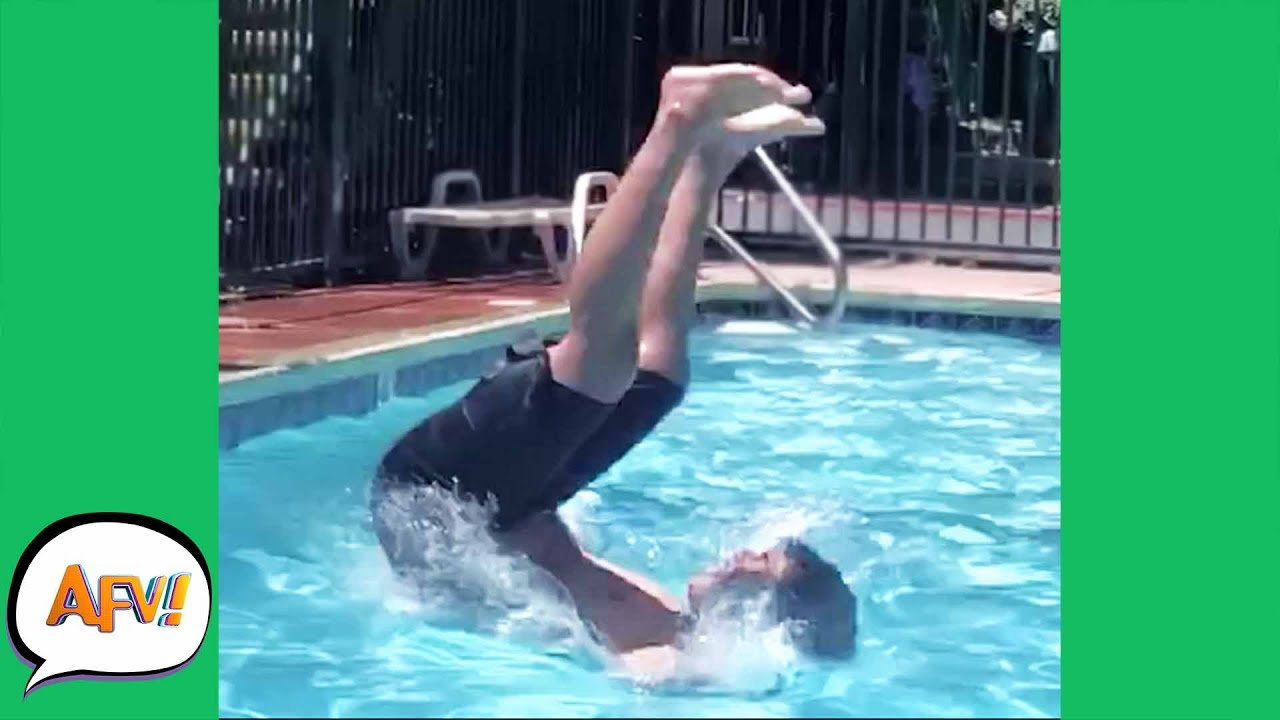 Just a Bunch of POOL FOOLS! ? | Funniest Water Fails | AFV 2021