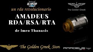 Amadeus de Golden Greek el atomizador mas revolucionario del vapeo