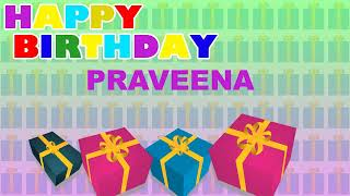 Praveena - Card Tarjeta_1211 - Happy Birthday