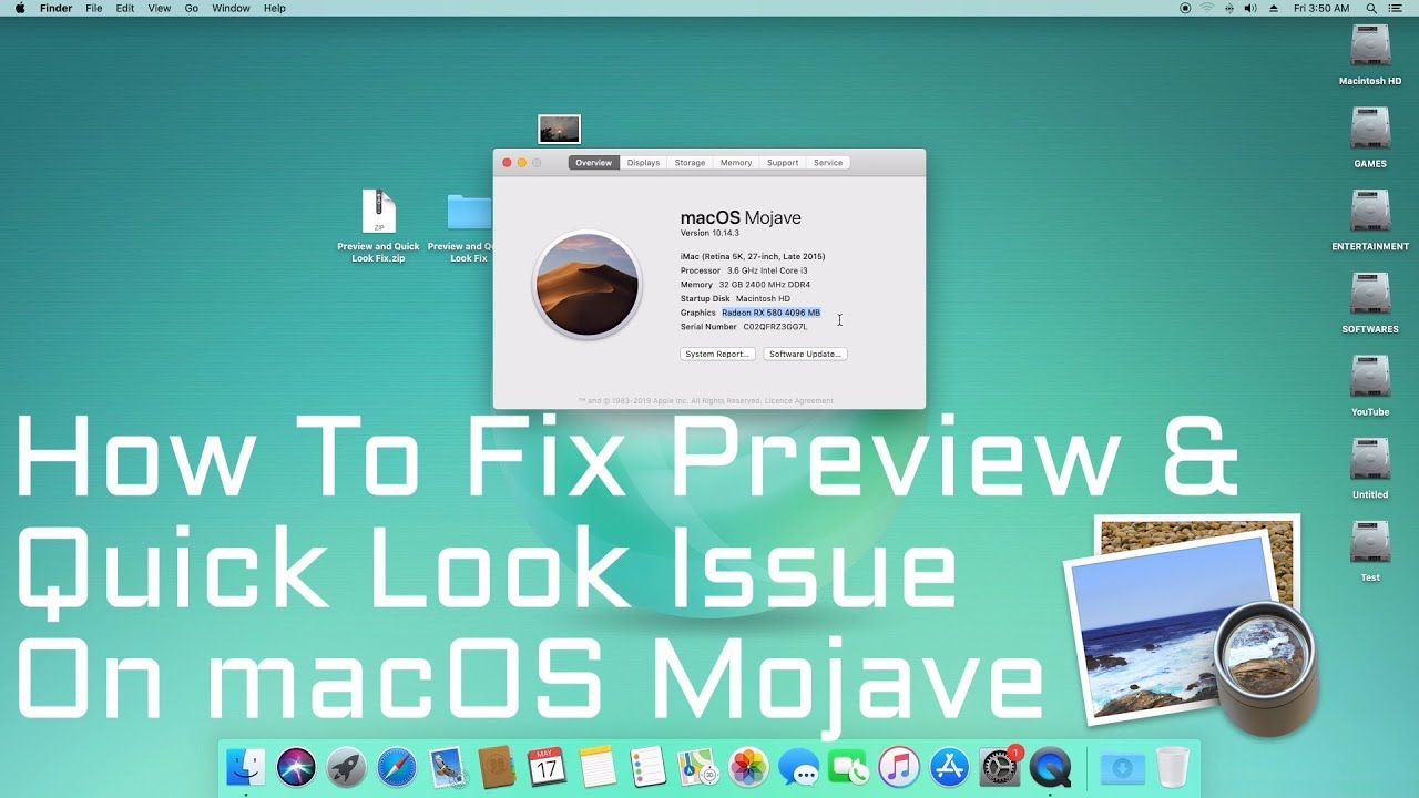 How to Fix Preview and Quick Look issues on macOS Mojave | Hackintosh |  Step By Step