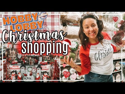 HOBBY LOBBY SHOP WITH ME 2018 | SHOPPING FOR CHRISTMAS DECOR AT HOBBY LOBBY! | Page Danielle