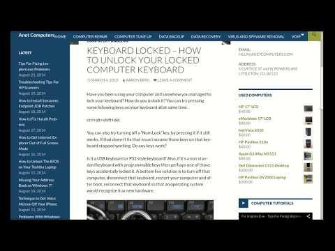 Keyboard Locked - How to Unlock Your Locked Computer Keyboard