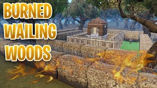 BURNED Wailing Woods - DESTROYED Tilted Towers (leaked footage)