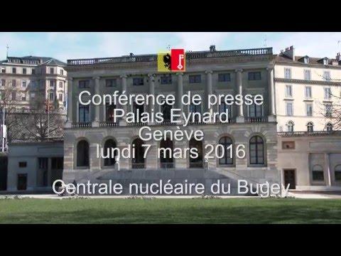 Conférence de presse de l'Etat et la Ville de Genève sur la centrale nucléaire du Bugey