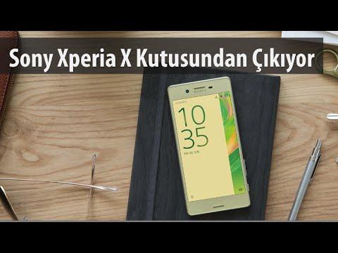 Sony Xperia X Kutusundan Çıkıyor