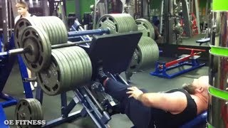 EGO LIFTER LEG PRESSES 2300lb Using Only ONE LEG