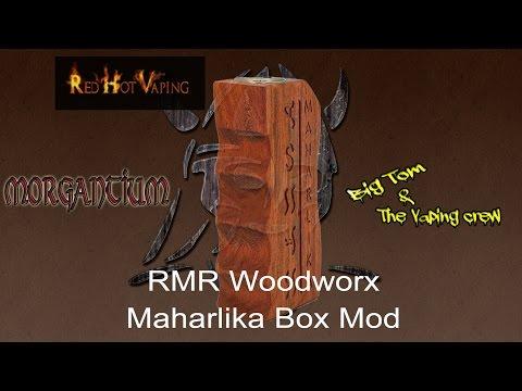 Maharlika Parallel 18650 box mod RMR woodworx