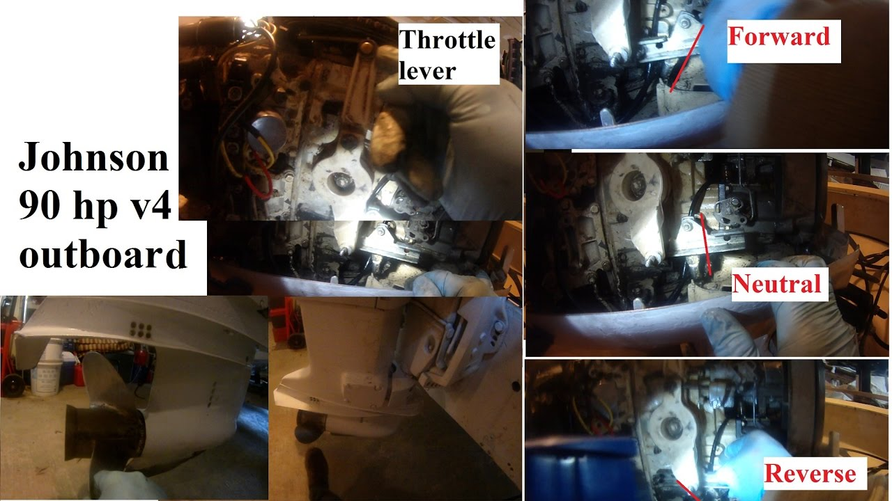 Johnson 90 Hp Outboard Shift And Throttle Positions Close Up Look Evinrude 115 Wiring Diagram Free Picture