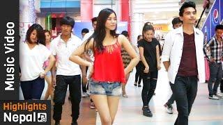AALOP - (FLASH MOB)   New Nepali Pop Song 2016 by Axata Featuring Shubha Acharya   Aman Adhikary