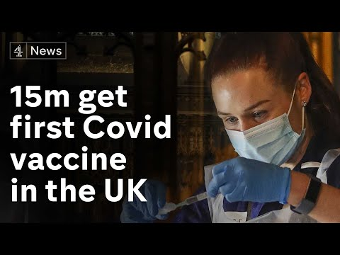 More than 15m people receive first dose of Covid vaccine in the UK