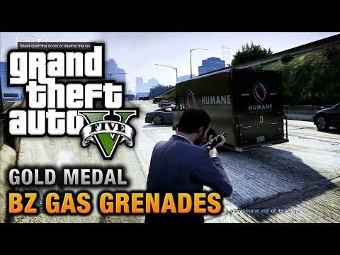 GTA 5 - Mission #15 - BZ Gas Grenades [100% Gold Medal Walkt