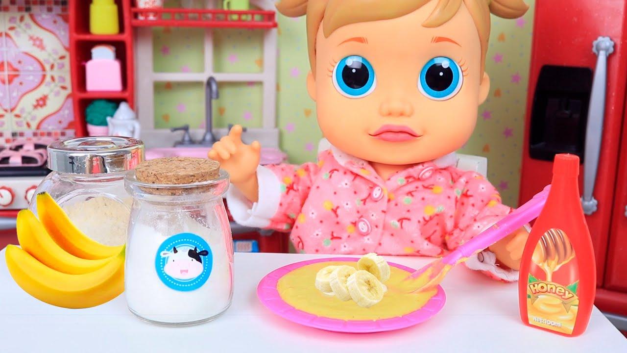 BABY WOW ANALU FAZ MINGAU DE BANANA!