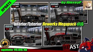 "[""American Truck Simulator"", ""tuning mod"", ""Exterior Reworks Megapack v1.6"", ""by AlexeyP""]"