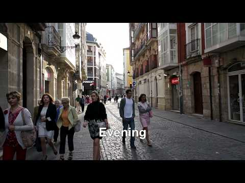 Burgos, Spain: A Virtual Day in the Pedestrian Precinct