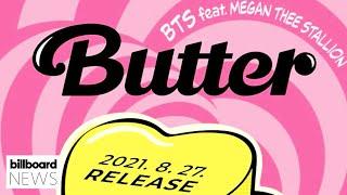 BTS & Megan Thee Stallion Officially Announce Their 'Butter' Remix | Billboard News