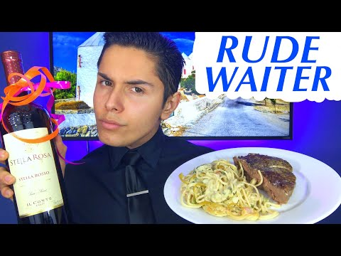 [ASMR] Rude Waiter Role Play! (Fancy Tingles)