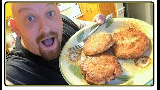 LOW CARB CHICKEN PATTIES Crunchy &amp Delicious ! Dinner Recipe