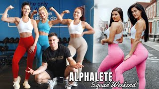 GIRLS VS GUYS Leg Workout ft. Rob Lipsett | ALPHALETE Black Friday Photoshoot