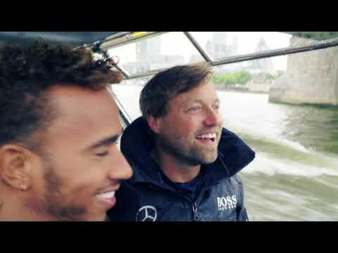 Sailor Alex Thomson meets Formula 1 driver Lewis Hamilton  in London