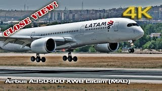 Airbus A350-900 XWB Latam (Close view) [4K]