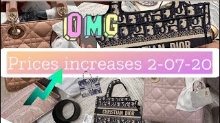 Shopping At Dior Before Prices Increases Tomorrow 2 July 2020 - Got Mini Lady Dior & Booktote lover
